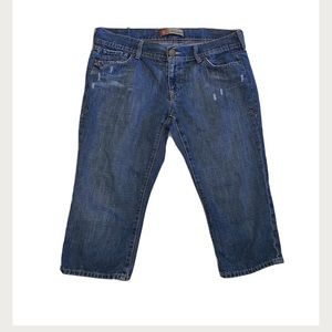 Old Navy Jean Capris Distressed Ultra Low